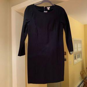 J Crew black pencil dress